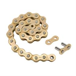 Speedway Mini Sprint Racing 520 Gold Drive Chain, 130 Links