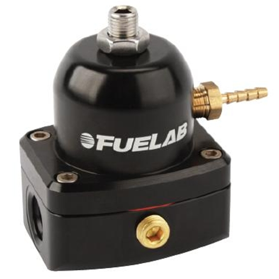 Fuelab 54501-1 Universal Black EFI Adjustable Mini Fuel Pressure Regulator