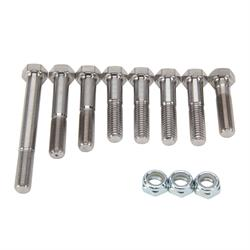 Front Axle Titanium Bolt Kit, Natural Finish