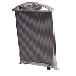 Garage Sale - AFCO Polished 1933-34 Ford Car Aluminum Radiator, Chevy Engine, Single Fan