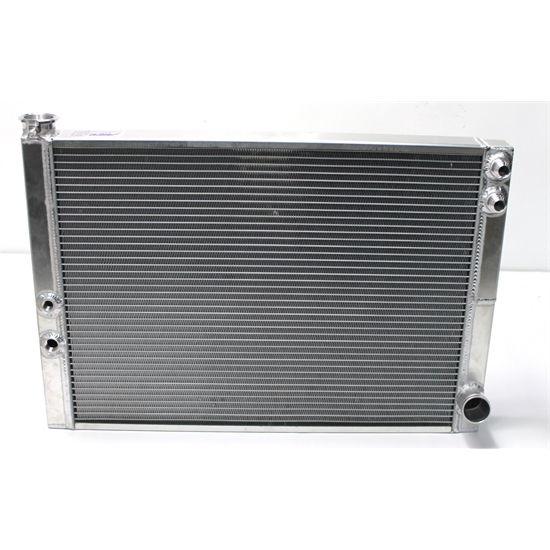 Garage Sale - AFCO Custom 27-1/2 X 18-3/4 Inch Radiator, Right Side -12 AN Inlet, Right 1-3/4 Out