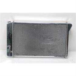 AFCO Direct Fit 1970-81 GM Alum Radiator, Polished, Single Fan w/