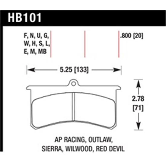 Garage Sale - Hawk HB101W 800 Superlite Disc Brake Pads