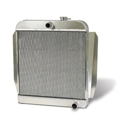 Garage Sale - Aluminum Satin Radiator 1955-59 Chevy Truck with Trans Cooler