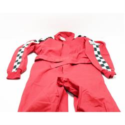 Finishline SFI-1 Qualifier 1-Piece Racing Suit, Red XXXXL