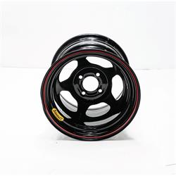 Bassett 30S45 13X10 Inertia 4 on 4 5 Inch Backspace Black Wheel