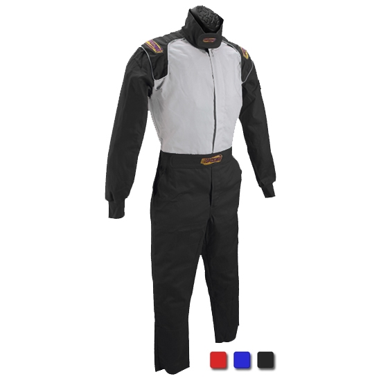 Speedway Black Racing Suit-One Piece-Single Layer, Medium