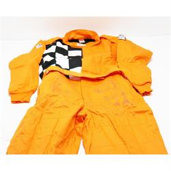 Finishline 2-Layer SFI-5 Fire Retardant Racing Suit, Orange Large