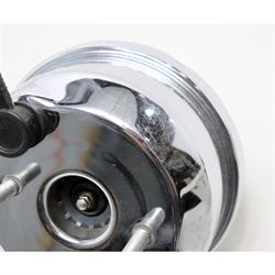 Speedway Single Diaphragm Power Brake Booster 7 In, Chrome Finish