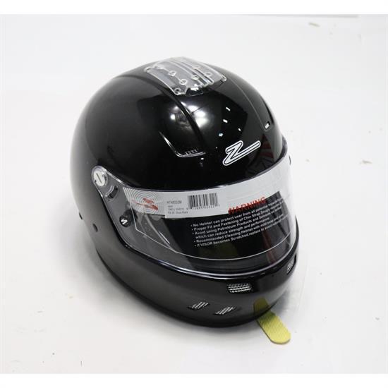 Zamp RZ-58 SA2015 Fully Enclosed Racing Helmet, Black