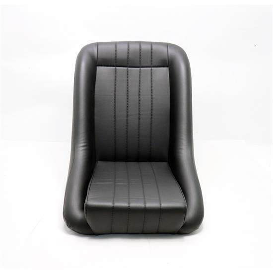 EMPI 62-2880-0 Low-Back Roadster Style Seat, Black