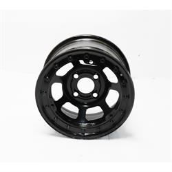 Bassett 13 x 7 Beadlock Racing Wheel, 3.5 BS, Black 4x4.25