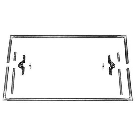 Square Top T Windshield Frame, 39-5/8 In Wide, 23 In Tall