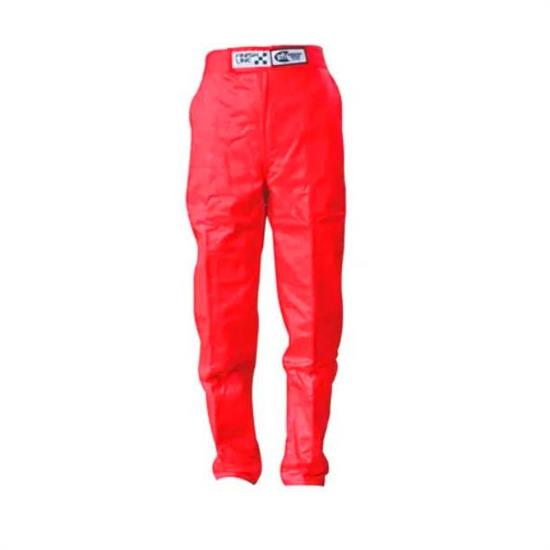 Finishline 2-Layer SFI-5 Fire Retardant Racing Pants Red Small