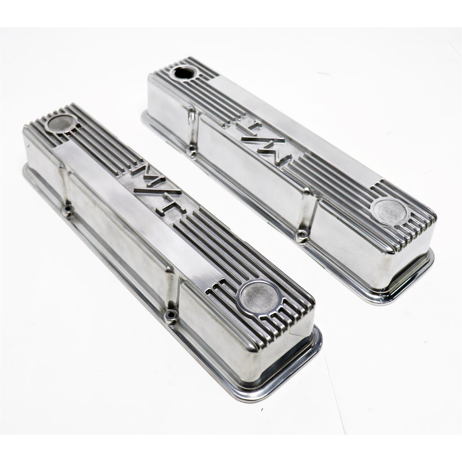 Holley 241-84 M//T Polished Valve Cover for BB Chevy