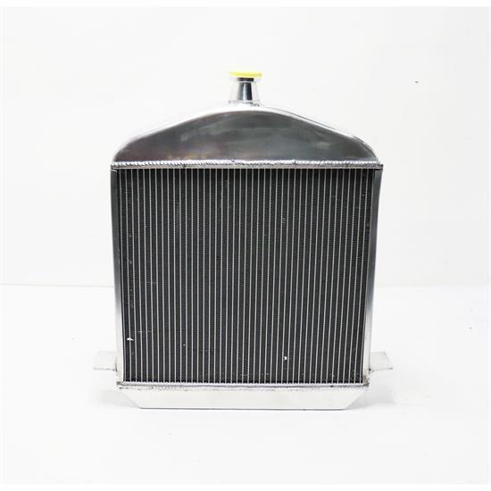 Speedway 1917-1923 T-Bucket Polished Aluminum Radiator-Chevy Outl