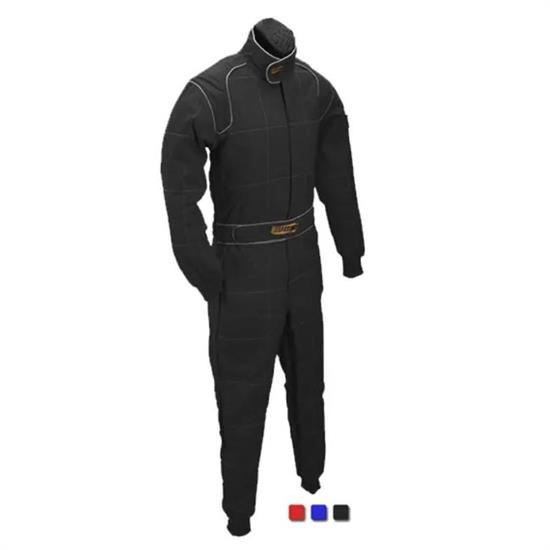 Speedway Black 2 Layer Racing Suit-One Piece-SFI-5 Rated, XXL