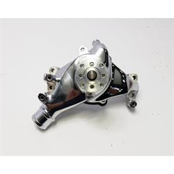 King Chrome Small Block Chevy 1969-86 Long Water Pump