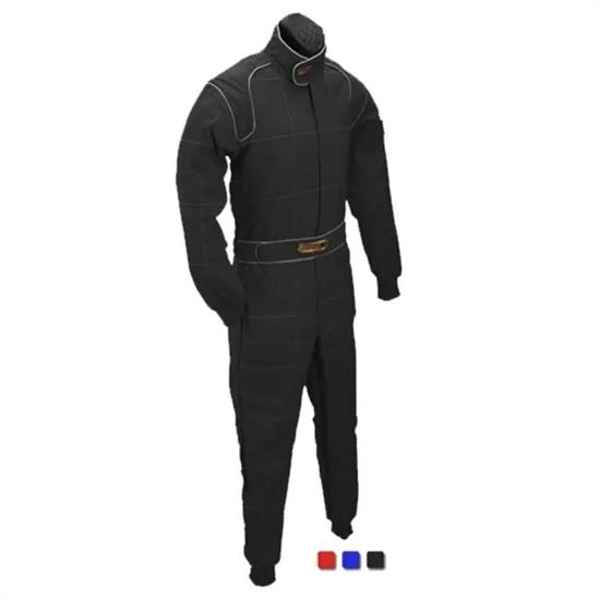 Speedway Black 2 Layer Racing Suit-One Piece-SFI-5 Rated, Large