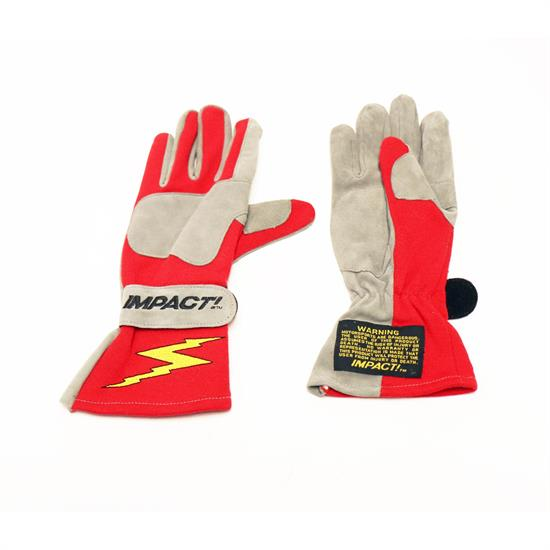 Impact 33000507 G3 Evolution Racing Gloves, L, Red