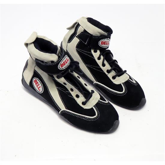 Bell Black Vision II SFI 3.3/5 Racing Shoes Size 7.5, Leather