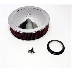 Chrome Air Cleaner with Washable Filter, 14 x 4 Inch