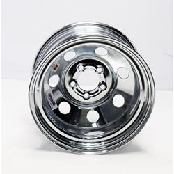 Speedway 15 x 8 IMCA Chrome Wheel 2 BS, Non-Beadlock, 5x4.5