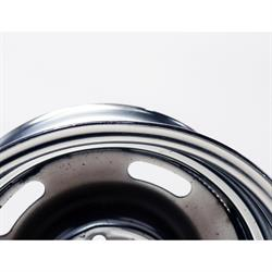 GM Rally Track Wheel, 5 on 5 Inch Bolt Pattern, 15x7, Chrome