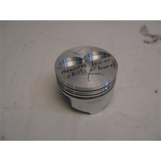 "Garage Sale - KB Chevy 350 Hypereutectic Pistons, Flat Top, 5.7"" Rod"