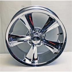 Rocket Racing R14-776142 Booster Chrome 17x7 Wheel, 5x4-3/4, 4-1/