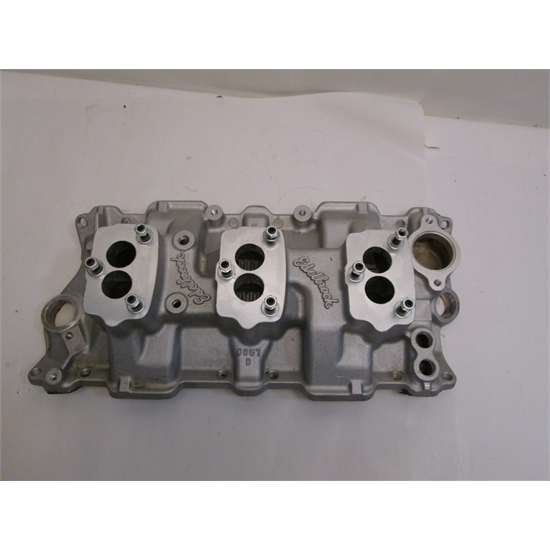 Garage Sale - Edelbrock Small Block Chevy 3X2 3-Bolt Carb Intake Manifold