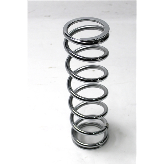 Garage Sale - Chrome Coil Spring, 2-1/2 ID, 11 Inch, 150 lbs.