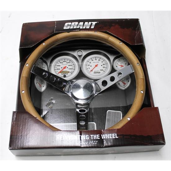 Garage Sale Grant 213 Classic Wood Steering Wheel 13 1 2 Inch