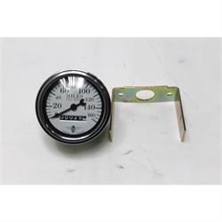 Garage Sale - Stewart Warner 82663 Wings Mechanical Speedometer, White