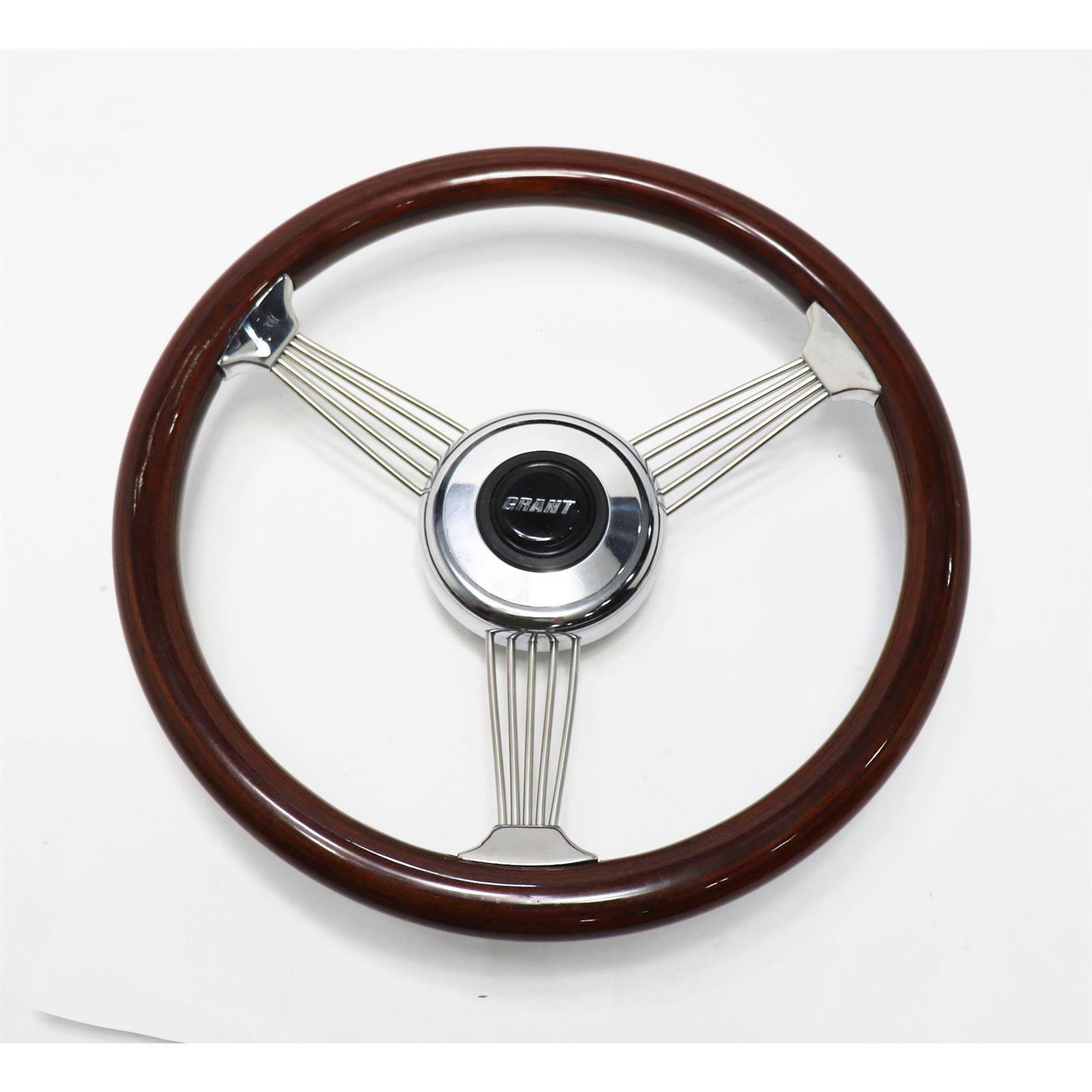 GRANT Steering Wheel Mtl Flake Gold//Spoke Chrm 13.5 P//N 8447