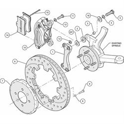Garage Sale - Wilwood 140-6163-R FDL Front Brake Hat Kit, 1994-01 Honda/Acura