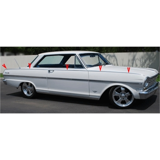 Garage Sale - Top Body Trim Moldings, 1963-64 Nova SS, 8-Piece Set