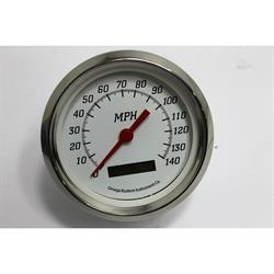"Garage Sale - 4"" 140 MPH Speedometer, Programmable White Face"