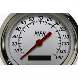 "Garage Sale - 4"" 140 MPH Speedometer, Programmable White Face"