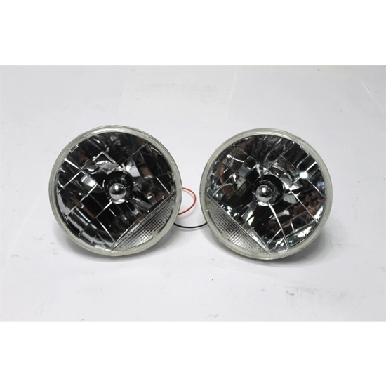 Garage Sale - Speedway 7 Inch Fluted Replacement Headlights w/ Clear Turn Signal
