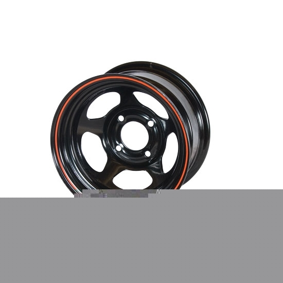 Garage Sale - Bassett 38ST5 13X8 D-Hole 4 on 4.5 5 Inch Backspace Black Wheel
