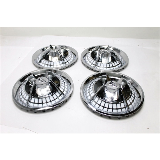 Garage Sale - 1959 Lancer Crab Style Hubcaps, 14 Inch, Chrome, Set of 4