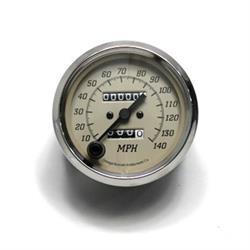 Garage Sale - Omega Kustom Tan 140mph Mechanical Speedometer