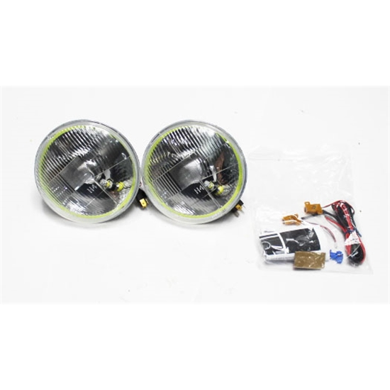 Garage Sale - Delta 01-1189-LEDH Classic 7 Inch LED Halo Headlights w/Turn Signals