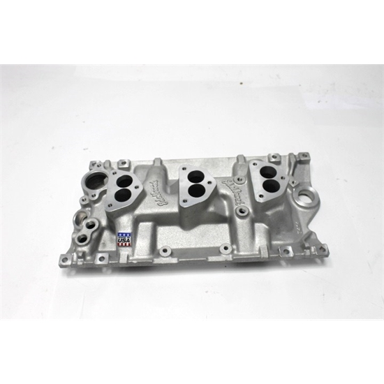 Garage Sale - Edelbrock S/B Chevy Vortec 3x2 Manifold for 3-Bolt Carb