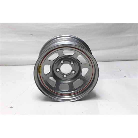 Garage Sale - Bassett D58DF475S 15X8 Dot DHole 5on4.5 4.75 In Backspace Silver Wheel