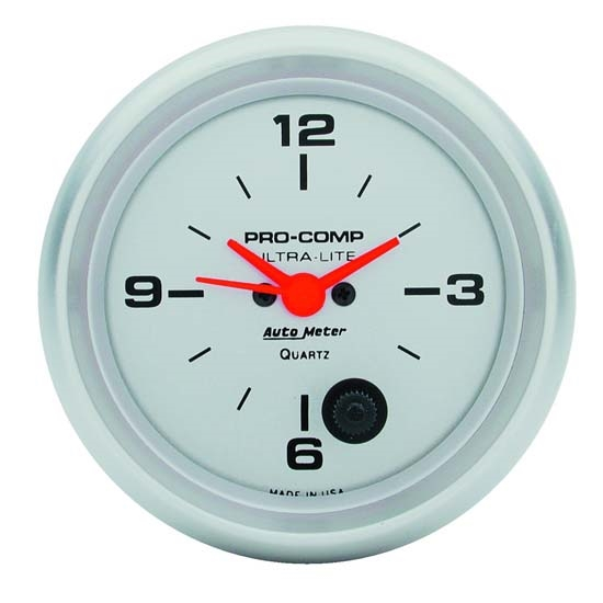 Garage Sale - Auto Meter 4485 Ultra-Lite Quartz Clock Gauge, 2-5/8 Inch