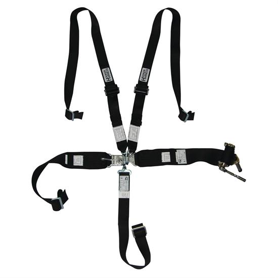 Hooker Harness 5 Point Latch And Link Safety Belt, 2 Inch Shoulde