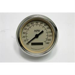 """Garage Sale - 4"""" 140 MPH Speedometer, Prog Beige"""