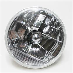 Garage Sale - Speedway 7 Inch Fluted Replacement Headlight w/ Clear Turn Signal
